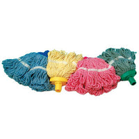 SYR CLEAN, MOP HEAD, COLOUR CODED, With Socket, Interchange Freedom Mini, 480g, Green, Each