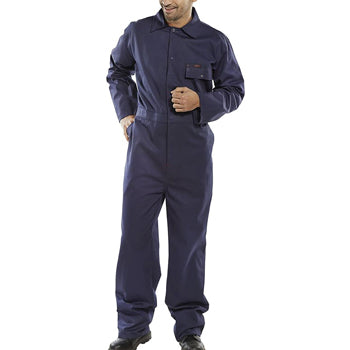 BOILER SUITS, Navy Blue Cotton Drill, 38-40'' chest, Each