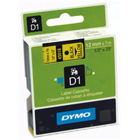 ELECTRONIC LABELLING MACHINES, D1 Tapes For DYMO(R) Electronic Labelmakers, Black/Yellow, Pack of 5