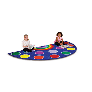 KIT FOR KIDS,, RAINBOW(TM) PLACEMENT CARPETS, SMALL SEMI CIRCLE, 1500 x 3000mm, Each