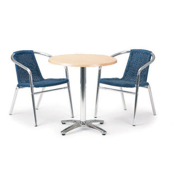 WEATHER RESISTANT CAFE FURNITURE, TABLES, Circular, Light Green, MORLEYS OF BICESTER LIMITED