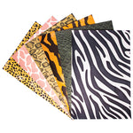 PATTERNED PAPER, Animal Prints, Pack of 6 x 4 sheets