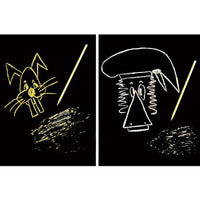 SCRATCH ART, Gold/Silver, Pack