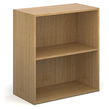 BOOKCASES, Slimline - 390mm depth, 830mm height with 1 shelf, Oak