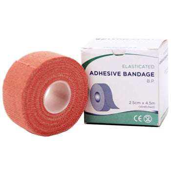 FIRST AID, TAPES AND STRAPPINGS, B P Stretch Fabric, 25mm x 4.5m. On roll, Each