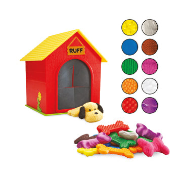 RUFF'S HOUSE TEACHING TACTILE SET, Age 3+, Set