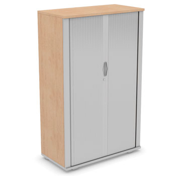 CUPBOARDS, SIDE TAMBOUR CUPBOARDS, 1600mm height, Birch