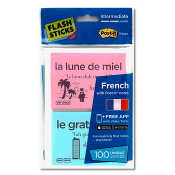 FLASHSTICKS(R) Single Packs, French Intermediate, Pack of 100