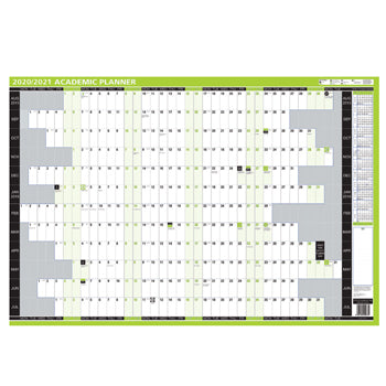 ACADEMIC YEAR 2020/21, ACADEMIC WALL PLANNERS, One Year to View, 855 x 610mm, Each