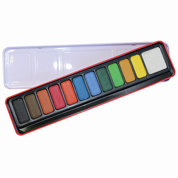 PAINT, WATERCOLOUR, TABLETS, 12, Tablet Tin, Tin of 12 tablets