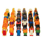 WOODEN FIGURES, People of the World, Set of 24