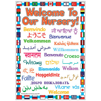 WELCOME POSTERS, 'Welcome To Our Nursery', Outdoor, 420 x 594mm (A2), Each