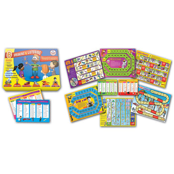 BOARD GAMES, Speaking and Listening, Age 4-7, Set of 6