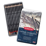 CHARCOAL PENCILS, Derwent Tinted, Assorted, Pack of 12