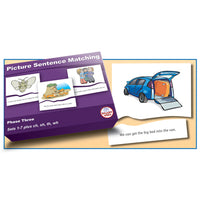 SMART PHONICS, PICTURE SENTENCE MATCHING PUZZLES, Phase Three Set 2, Set