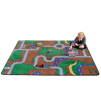 LEARNING RUGS, CHILDREN'S CUT PILE RUGS, Play Building Block, Rectangular, 1780 x 1430mm, Each