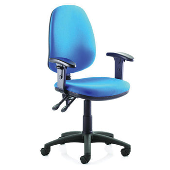 FAST TRACK, SELF ASSEMBLY RANGE, HIGH BACK OPERATOR CHAIR, With Height Adjustable Arms, Ocean