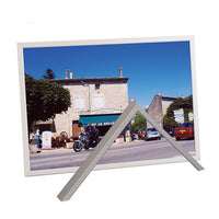 PICTURE FRAMES, SATIN ALUMINIUM FRAMES, Silver, A4, Clips For Hanging, Each