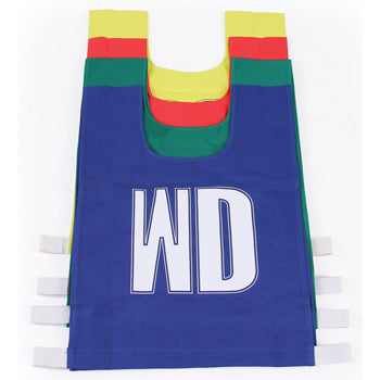 NETBALL BIBS, Medium 47 x 43cm, Nylon, Blue, Set of 7