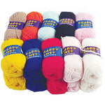 THREADS AND YARNS, 25g Mini Balls, Pack of 20
