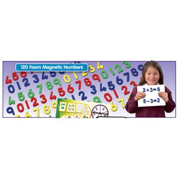 NUMBER SETS, FOAM MAGNETIC NUMBERS, Set of 120