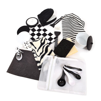 BLACK & WHITE TREASURE BAG, Age 3+, Set of 15