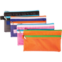 PENCIL CASES, Solid Colour, 102 x 203mm, Pack of 12