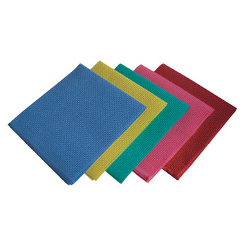 TEXTILES, PLAIN FABRIC, CANVAS BINKA, Assorted Colours, 500mm squared, Pack of 5