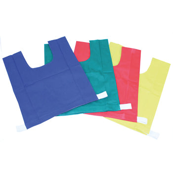 PLAIN TRAINING BIBS, Large 50 x 40cm, Cotton, Yellow, Set of 10