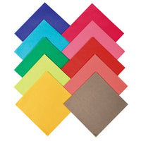 TISSUE PAPER, Squares Assorted, 150 x 150mm, Pack of 480 sheets