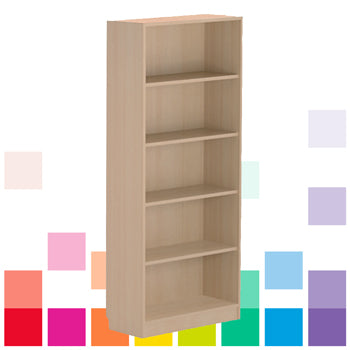 OPEN BOOKCASES, 1800mm height, Maple, Smartbuy