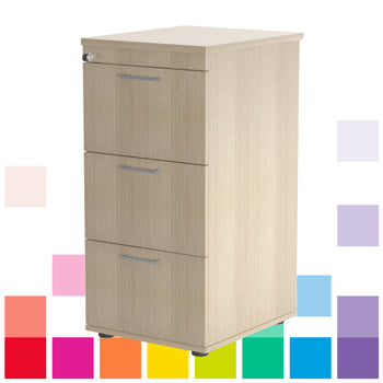 LOCKABLE, WOOD EFFECT FILING CABINETS, 3 Drawers, Beech, Smartbuy