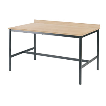 SCIENCE & ART TABLES, LABORATORY BENCH WITH UPSTAND, 1200 x 600mm, 650mm height, Beech