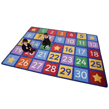 LEARNING RUGS, CHILDREN'S CUT PILE RUGS, Large Numbers, Rectangular, 2870 x 1980mm, Each