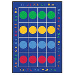 LEARNING RUGS, CHILDREN'S CUT PILE RUGS, Dots, Rectangular, 2870 x 1980mm, Each