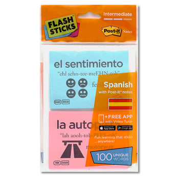 FLASHSTICKS(R) Single Packs, Spanish Intermediate, Pack of 100