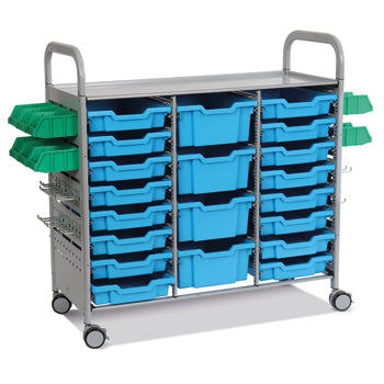 CALLERO STEM ACTIVITY TROLLEY, STEM TREBLE COLUMN, Cyan