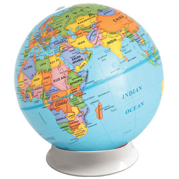 GEOGRAPHY, GLOBE, Discovery Political World, 230mm diameter, Each