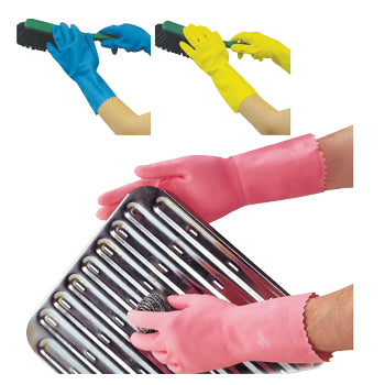 CHEMICAL RESISTANT GLOVES, Medium Weight, Polyco Optima(TM), Small, Pink, Pack of 12 Pairs