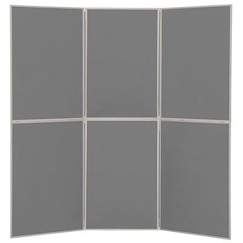 LIGHTWEIGHT FOLD-UP DISPLAY SCREEN, Floor Standing, 6 Panel Screens, Grey