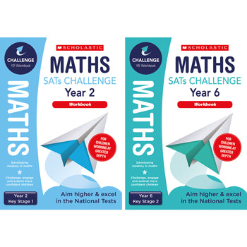 SATS MATHS CHALLENGE CLASSROOM PROGRAMME, Maths Workbook, Year 2, Pack of 10