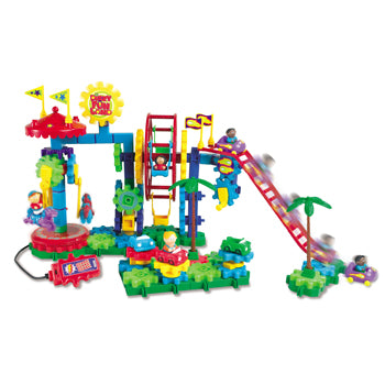 EARLY CONSTRUCTION SETS, Gears! Gears! Gears! Dizzy Funland, Age 4+, Set of 120 pieces