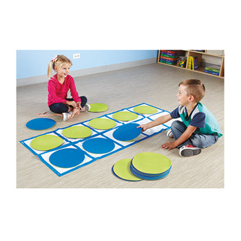 TEN-FRAME FLOOR MAT ACTIVITY SET, Age 3+, Set