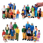 BLOCK PEOPLE, Ethnic Families, African People, Set of 8