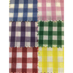 TEXTILES, FABRIC PACKS, Gingham Cotton, 1.12 x 1m, Pack of 6