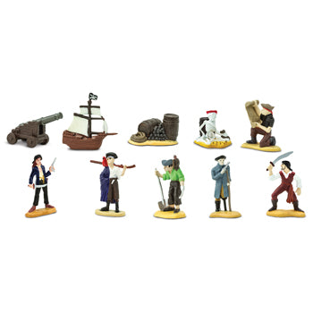PIRATE MINI FIGURES, Set of 10 pieces
