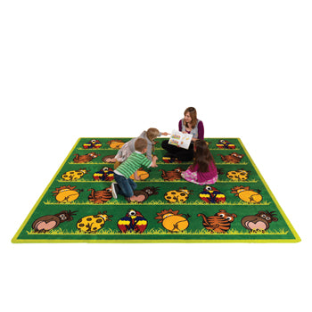KIT FOR KIDS, TOWN & COUNTRY(TM) ZOO ANIMALS CARPET, 3000 x 3000mm, Each