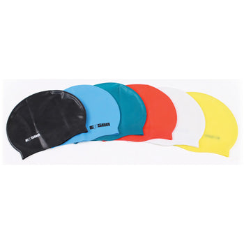 SWIMMING CAPS, Silicone, Assorted, Pack of 6