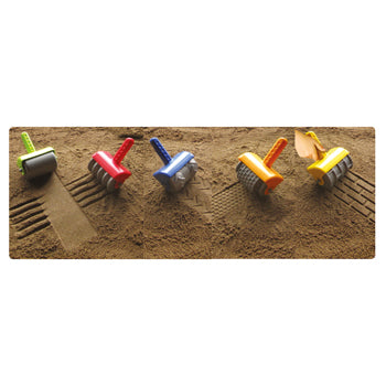 SAND AND WATER PLAY, SAND ROLLERS, Set of 5