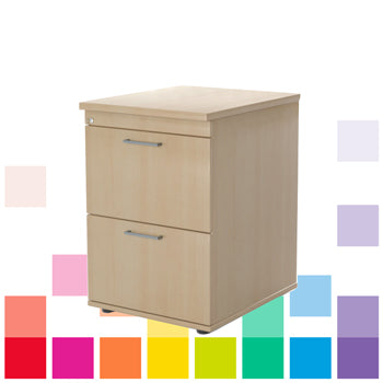 LOCKABLE, WOOD EFFECT FILING CABINETS, 2 Drawers, Beech, Smartbuy